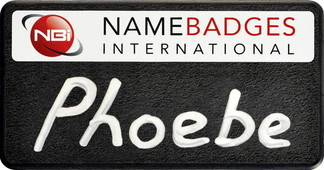 Chalkboard name badges - Black border and white background | www.namebadgesinternational.ae